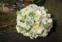 Brides bouquet and bridesmaids