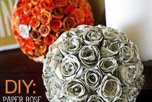 Papírvirágok - Paper flowers