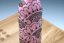 Botellas de vino decorativas