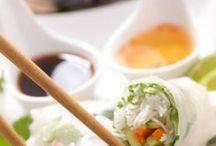 sushi,rouleau de printemps...
