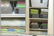 linen closet organised