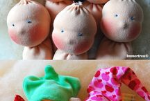 Dolls handmade / A variety of handmade dolls - clay, papier mache, felt, sewing, material, wool, wood etc