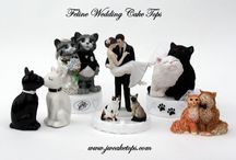 Cat Wedding Cake Tops / Adorable Cat Cake Toppers for your Cat Themed Wedding !