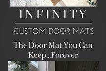 Infinity Custom Door Mats by RugsThatFit.Com