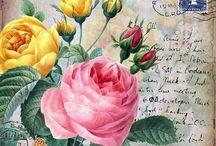цветы / картинки для декупажа