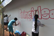 Pool Mural / Check out our students creating the new Pool Mural!