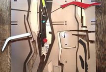 Martie Bitzer Metal Art / Mixed media: mild steel, pewter, enameling and acid etching