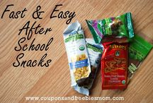 After School Snacks / The kids are hungry! Feed them something after school that doesn't come from a package or a box with these great ideas for treats to tide them over until dinner is served,