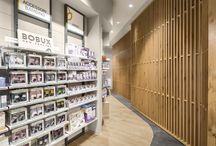 Farmacia Riva - Gallarate IT / https://www.am-lab.it/en/projects-portfolio/farmacia-riva/  An ambient that promotes interactions and relations, giving place to meeting's occasions that go beyond shopping experience, leading customer to rediscovery authentic values on balance with context.