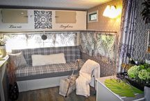 Glamper / Elegant vintage camper. Break out the Bubbly.