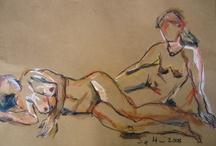 Susanne Haun - drawing -  nudes