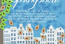 Springsnow in Amsterdam / Amsterdam celebrates the beauty brought by 75,000 elms in the city. Enjoy the art, food & fun at the elm route and Catch the Springsnow! Every year from Apr 21st - May 21st.