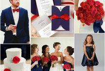 navy and red wedding