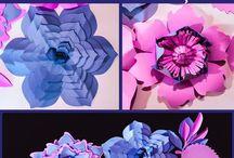kwiaty z papieru, wstążki, bibuły,krepiny i innych