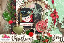 Christmas Joy Scrapbook Collection / A beautiful rustic style digital scrapbook collection from Raspberry Road Designs.