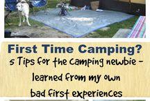 Tent & Pop-up Trailer Camping / #tenting #camping #popuptrailer #trailer #getoutside
