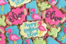 Flamingo first birthday