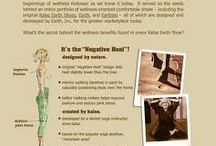 """Kalso Earth® Shoes / It's the """"Yoga-Inspiration""""! designed by nature  gentle sole incline sets heel  slightly lower than the toes  mimics walking barefoot in sand by  naturally positioning body over frame  better walking motion helps improve  posture and reduce joint stress created by kalso  developed by a danish yoga  instructor, anne kalsø  based on the popular yoga  position — """"mountain pose""""  inspired by kalsø's belief that wellness -  in its most organic form - should be  part of an everyday experience"""