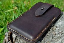 Leather pouches and bags