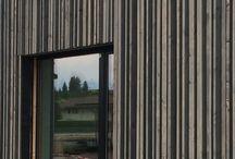 Modern wood facade