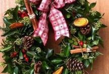 Christmas / Our natural, rustic wreaths and table decorations