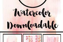 watercolors & bookmarks