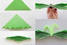 con papel / cosas hechas con papel