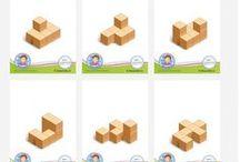 Blokkenbouwsels en plattegronden