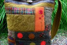 Art - Wool Repurpose / I love going junkin and finding 100% wool skirts, pants, jackets, bringing them home, washing them in hot water, drying on hot, then cutting them apart ready to reuse in rug hooking, etc.