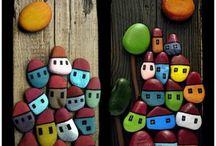 Pebbles/Wood
