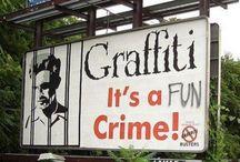 Vandalised Billboards / Vandalised billboards made funnier by graffiti.