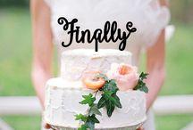 Finally cake topper