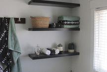 IKEA shelves painted