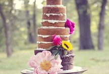 Unfrosted Wedding Cakes / Unfrosted wedding cakes, also called Naked Cakes, are being seen more and more for weddings as an option to the traditional frosted cake.