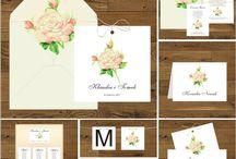 Zaproszenia ślubne z brzoskwiniowymi różami