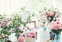 L-8  Garden Tea Party / ティーカップ パーティ ターコイズ ピンク