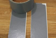 Duck tape embossing