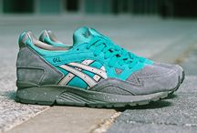Asics Gel Lyte 5 JACK FROST / Une sneakers légère, à la fois colorée avec le bleu turquoise et sobre avec le gris.