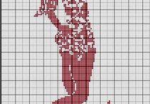 Haft krzyżykowy - wzory