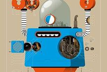 Bots & Droids / Illustrations of robots, droids and other vaguely mechanical type beings. / by thisnorthernboy