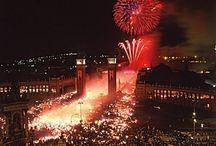 "Fiesta de la Mercè / On September 24th of each year, Barcelona celebrates ""La Mare de Déu de la Mercè"". During one entire week, a great party takes place in the city."