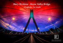 Mary McAleese Bridge / The Mary McAleese Bridge Boyne Valley Bridge  is a cable stayed bridge spanning the Boyne River out side Drogheda  Co. Louth, Ireland. #Drogheda