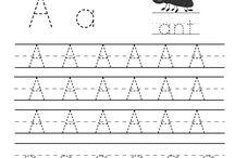letter sheet for kindergarden