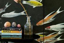 Декор стен / Интересные и необычные идеи  декорирования стен....