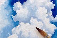 Akvarell felhők