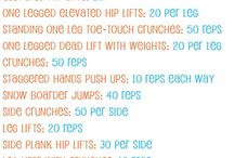 workout/fitness / by Courtney MeGinley