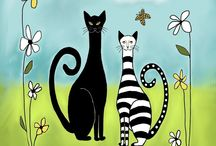 Art - Cats & Dogs / by Cristina Hauth