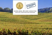 Super Bowl 50 - San Francisco and Wine Country / Super Bowl 50 will be in the San Francisco Bay Area this season, with an 8-day celebration in San Francisco and the game at Levi's Stadium on Feb. 7, 2016. Come visit the Sonoma Lounge in Super Bowl City, and then see the rest of Sonoma Wine Country during your visit.  / by Sonoma County