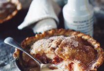 rhubarb desserts / Rosy, pink hues and sweet syrups make rhubarb the ultimate winter baking ingredient.