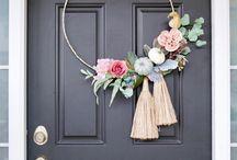 Crafts: Floral hoops